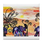Indian Elephant Parade Tile Coaster