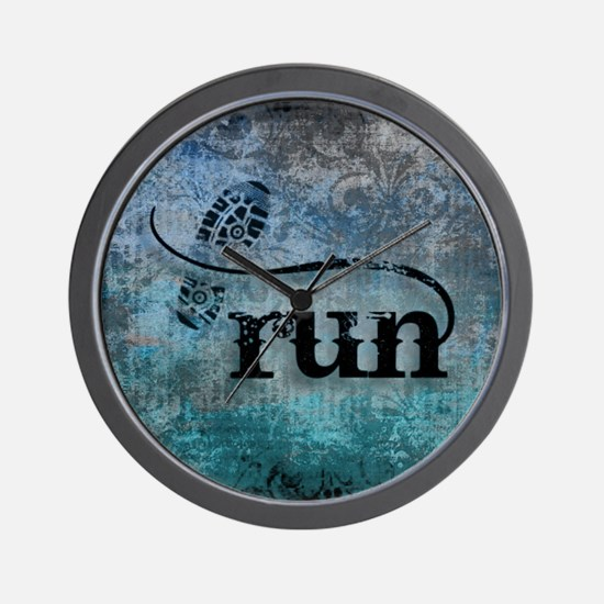 Run by Vetro Designs Wall Clock