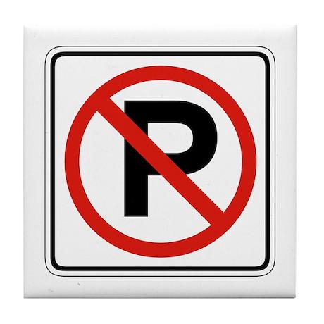 No Parking - USA Tile Coaster