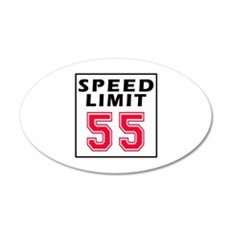 Speed Limit 55 Wall Decal