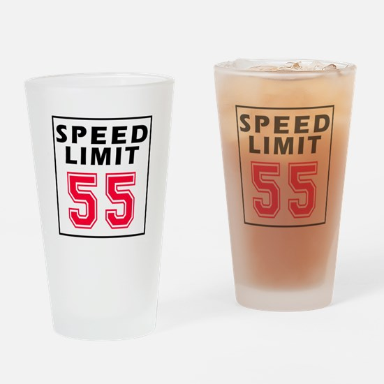 Speed Limit 55 Drinking Glass