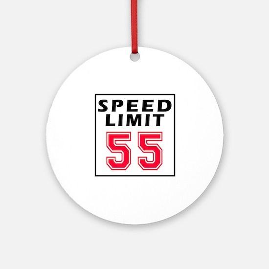 Speed Limit 55 Ornament (Round)