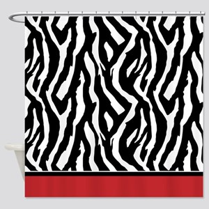 Red Zebra Shower Curtain