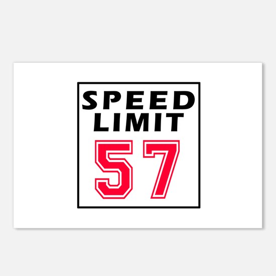 Speed Limit 57 Postcards (Package of 8)