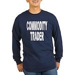 Stock Trader (Front) Long Sleeve Dark T-Shirt
