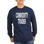 Stock Trader (Front) Long Sleeve Dark T-Shirt