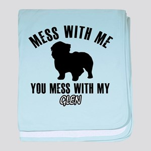 Don't mess with my Glenn baby blanket