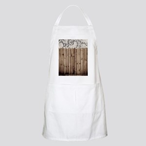barnwood white lace country Apron