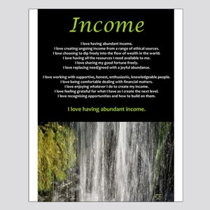 Income affirmations Poster Design