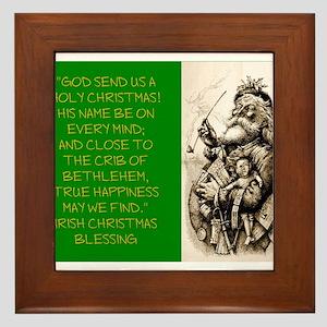 God Send Us A Holy Christmas - Irish Blessing Fram