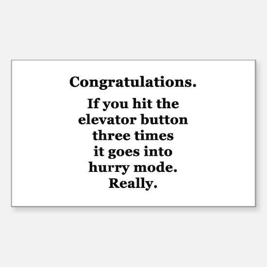 Congratulations. Sticker (Rectangle)