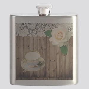 floral tea cup vintage Flask
