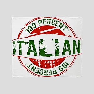 100 Percent Italian - Guaranteed Certified % Throw