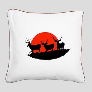 Shadow bucks Square Canvas Pillow