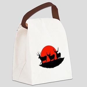 Shadow bucks Canvas Lunch Bag