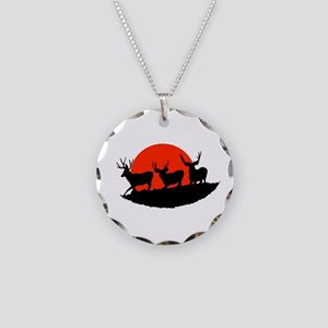 Shadow bucks Necklace Circle Charm