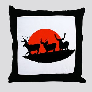 Shadow bucks Throw Pillow