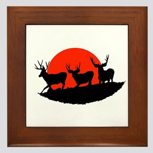 Shadow bucks Framed Tile