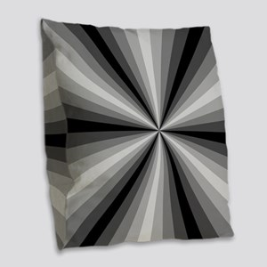 Black Illusion Burlap Throw Pillow