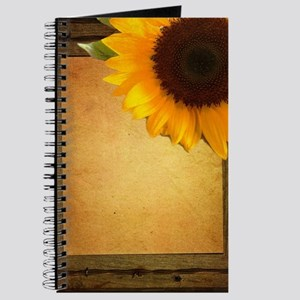 sunflower barnwood country Journal