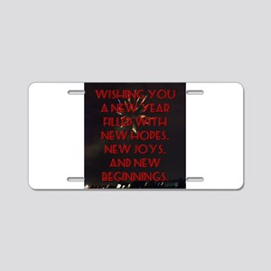 Wishing You A New Year Aluminum License Plate