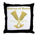 Golden Matron of Honor Throw Pillow