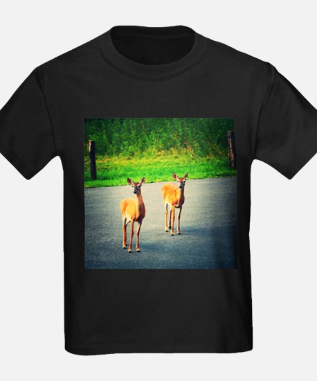 Two Watchful Deer in the Smoky Mountains T-Shirt