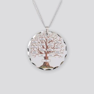 Ancestor Tree Necklace Circle Charm