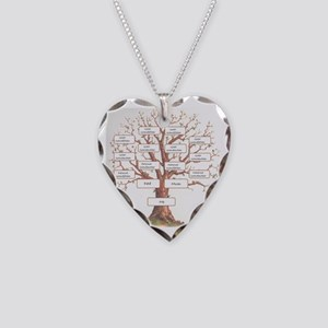 Ancestor Tree Necklace Heart Charm