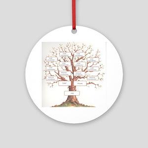 Ancestor Tree Round Ornament