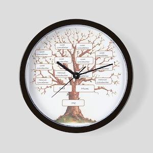 Ancestor Tree Wall Clock