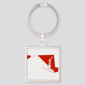 Maryland Diver Square Keychain