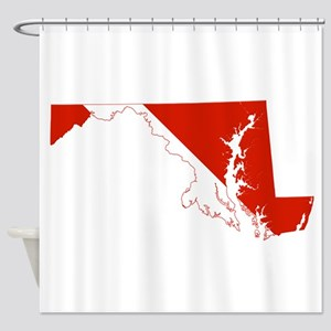 Maryland Diver Shower Curtain
