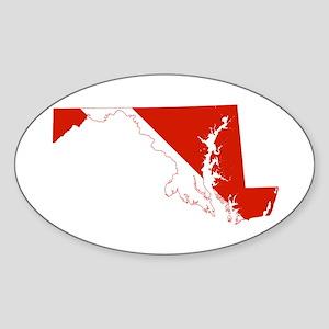 Maryland Diver Sticker (Oval)