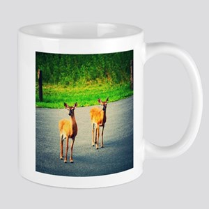 Two Watchful Deer in the Smoky Mountains Mugs