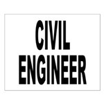 Civil Engineer Small Poster