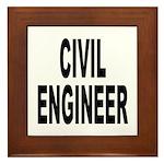 Civil Engineer Framed Tile
