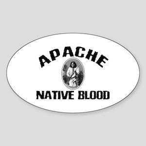 Apache Native Blood Oval Sticker