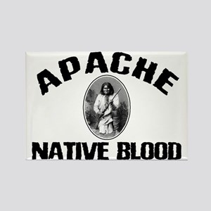 Apache Native Blood Rectangle Magnet
