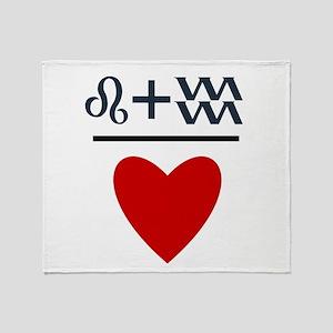 Leo + Aquarius = Love Throw Blanket