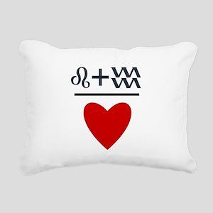 Leo + Aquarius = Love Rectangular Canvas Pillow