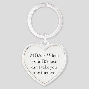 MBA Heart Keychain
