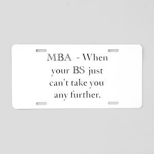 MBA Aluminum License Plate