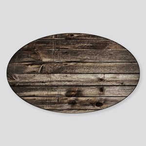 rustic barnwood western country Sticker (Oval)
