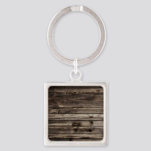 rustic barnwood western country Square Keychain