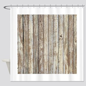 rustic barnwood western country Shower Curtain