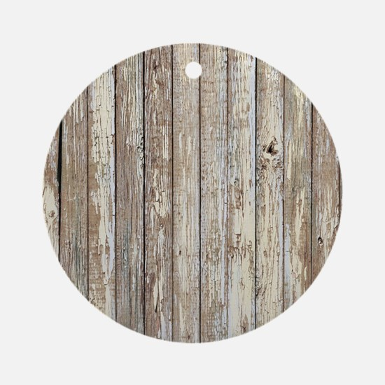 rustic barnwood western country Round Ornament