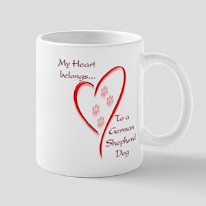GSD Heart Belongs Mug
