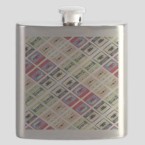retro cassette tape funky pattern  Flask