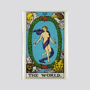 THE WORLD TAROT CARD Magnets